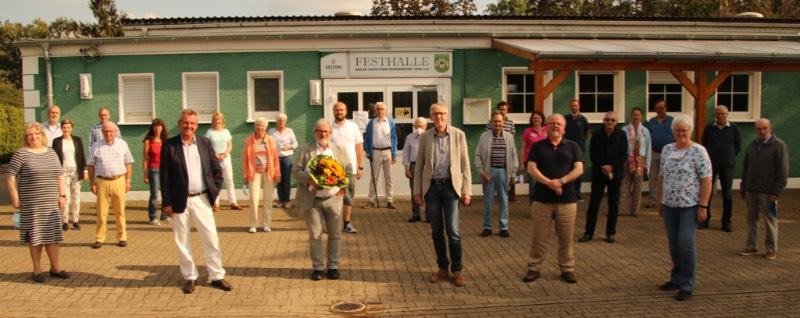 Bürgermeister Rebbe, Beigeordneter Freck und die CDU-Fraktion